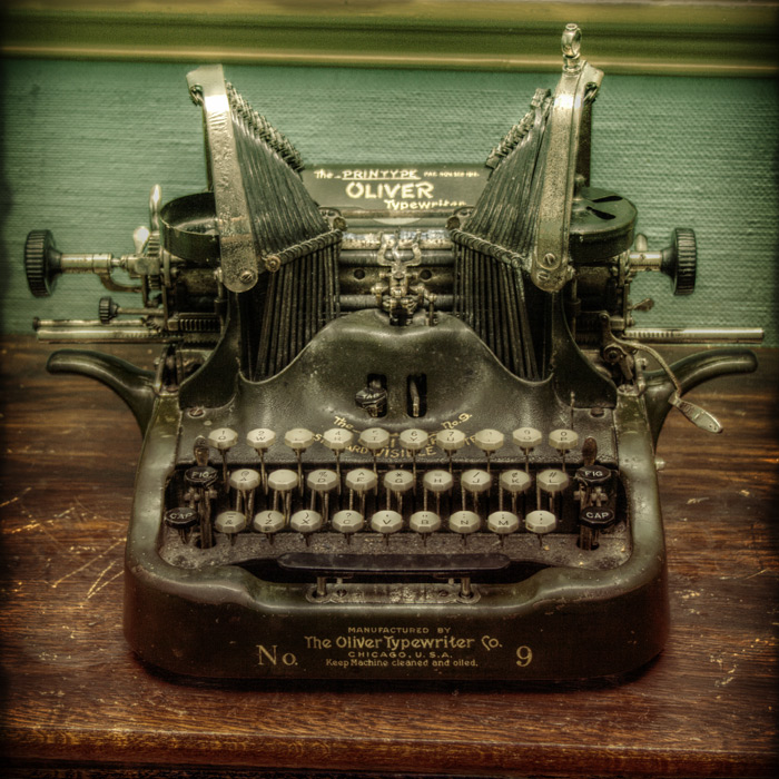 Antique typewriter photo