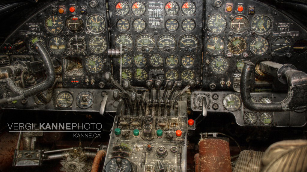Vintage Airplane Cockpit Wallpaper 2048x1152